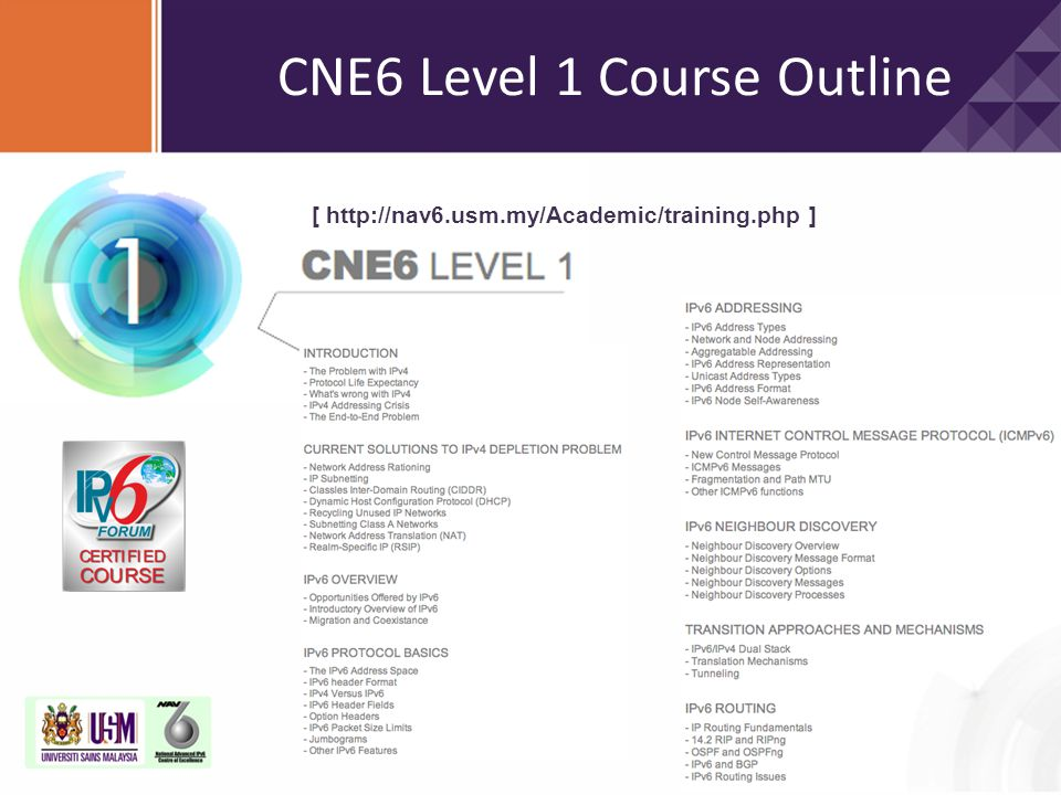 CNE6 Level 1 Course Outline