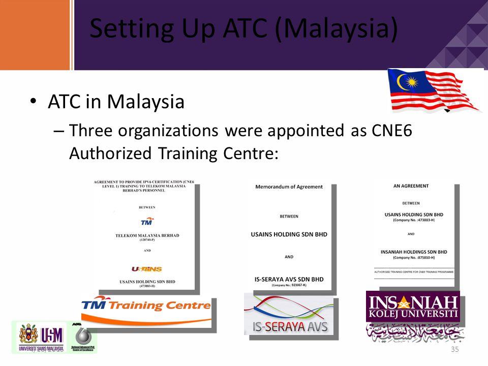 Setting Up ATC (Malaysia)