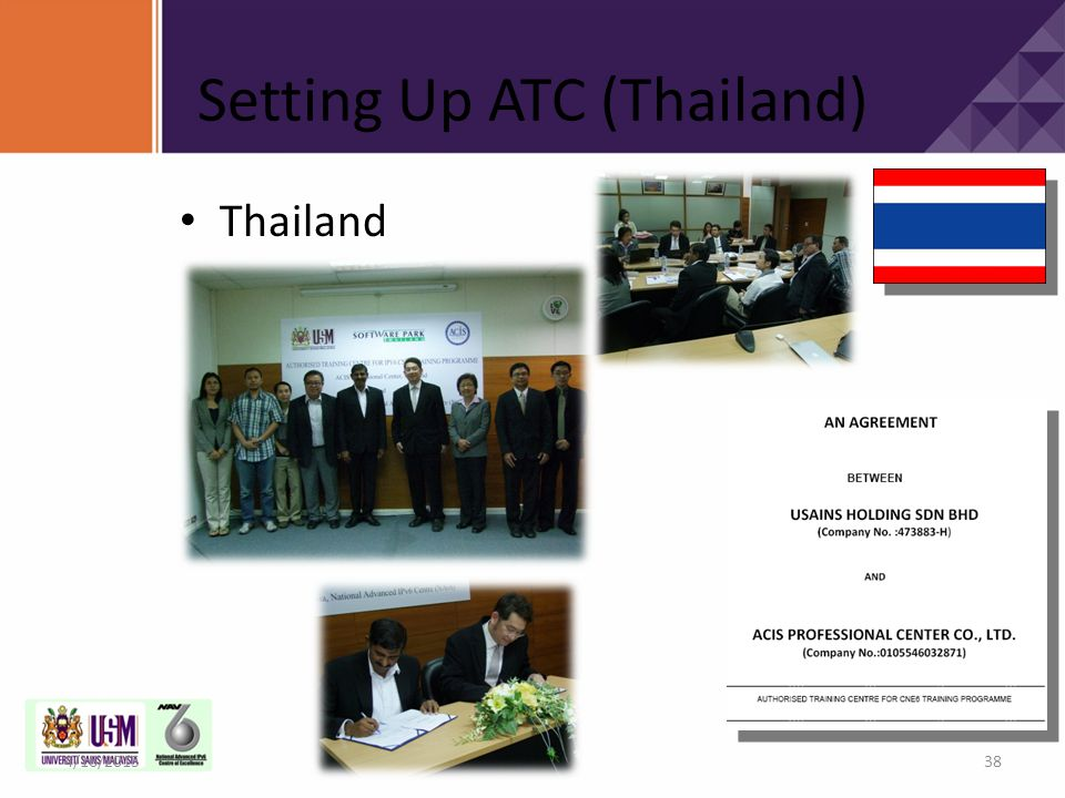 Setting Up ATC (Thailand)