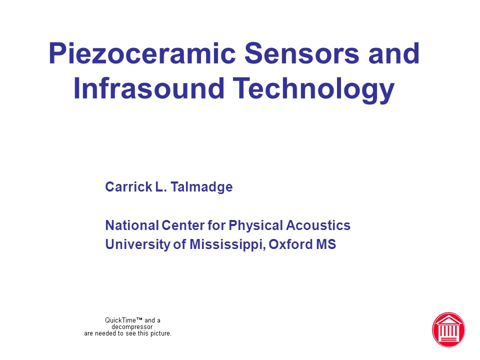 Piezoceramic Sensors and Infrasound Technology