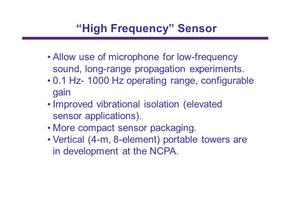 High Frequency Sensor