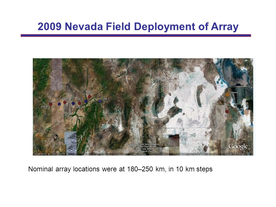 2009 Nevada Field Deployment of Array