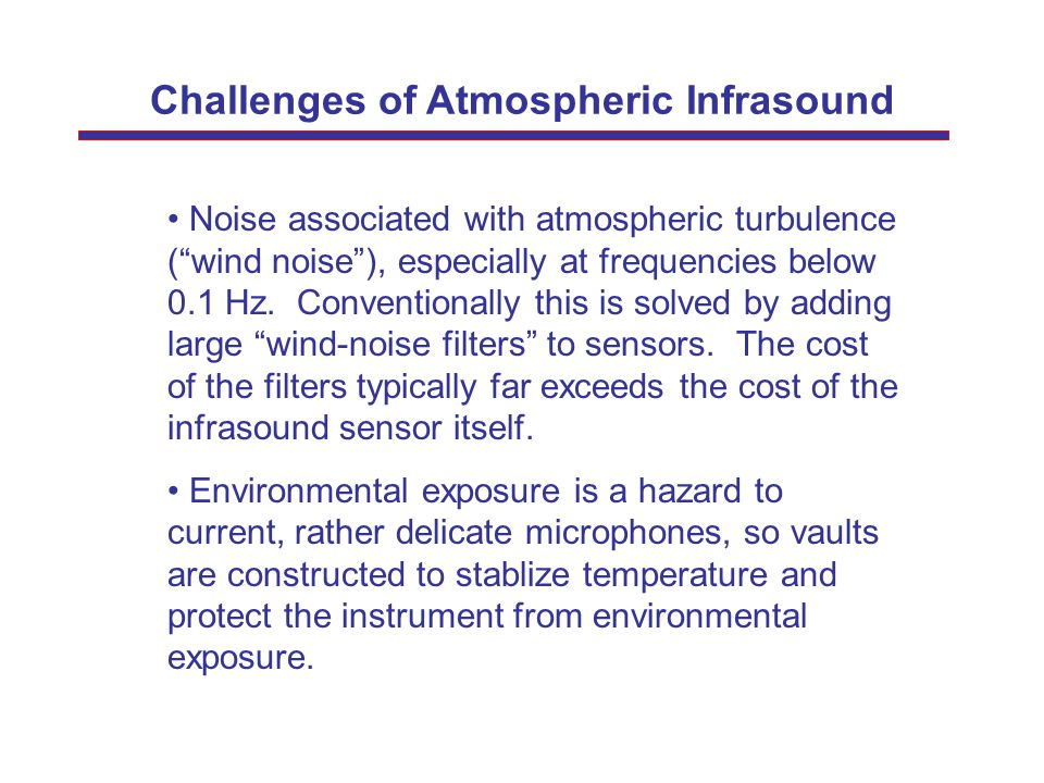 Challenges of Atmospheric Infrasound