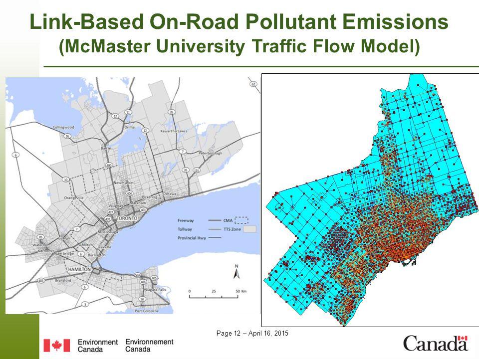 Link-Based On-Road Pollutant Emissions