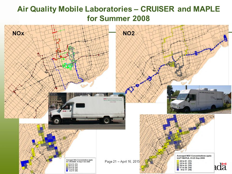 Air Quality Mobile Laboratories – CRUISER and MAPLE