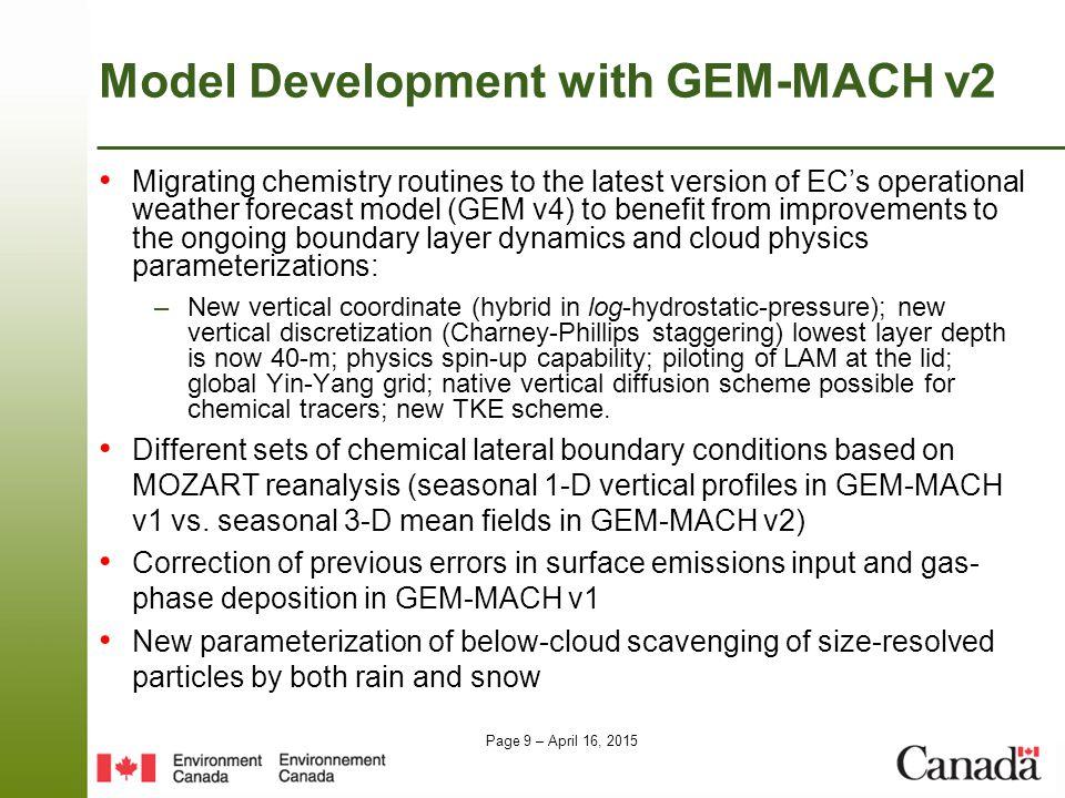 Model Development with GEM-MACH v2