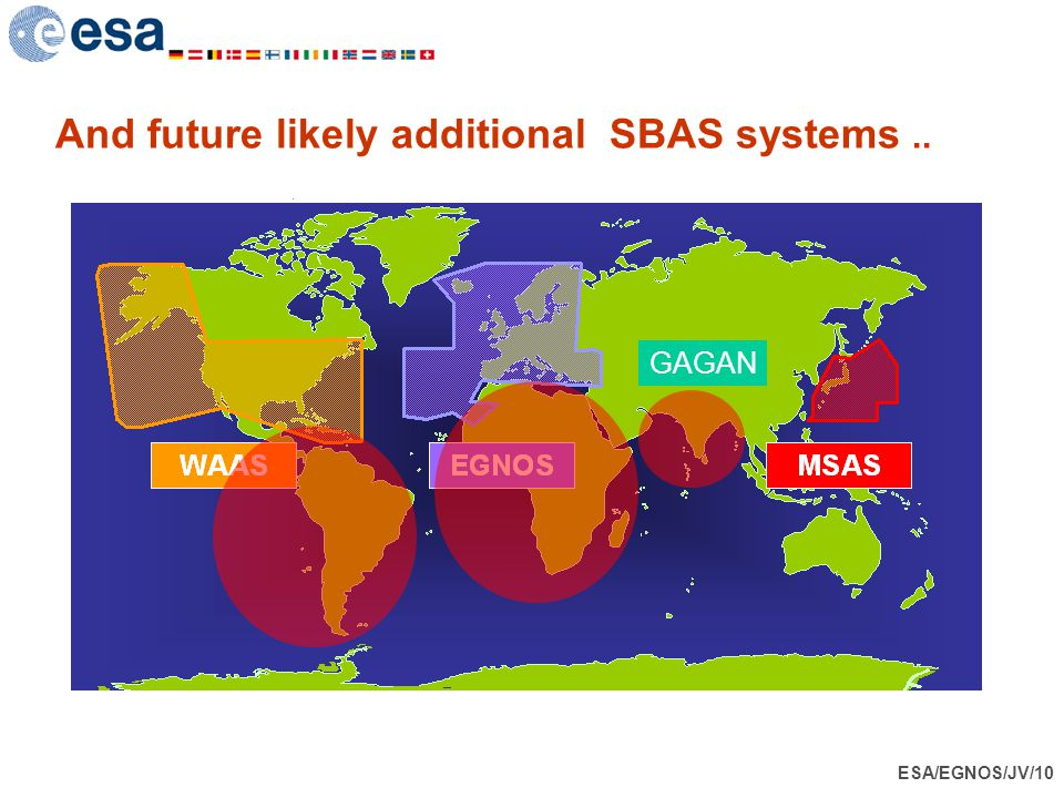 And future likely additional SBAS systems ..