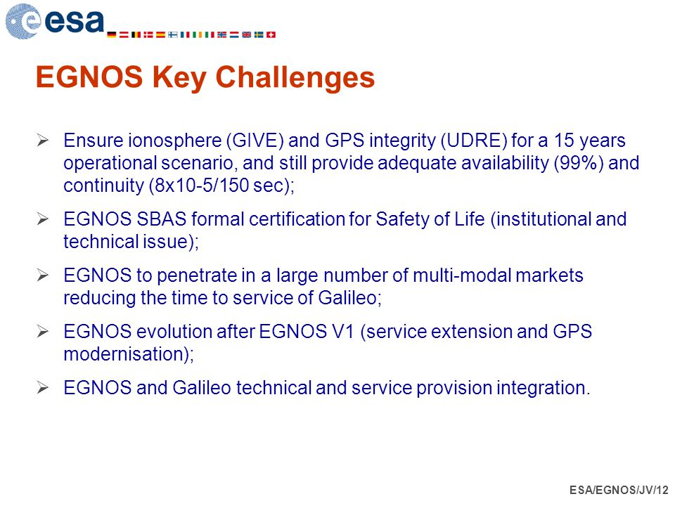 EGNOS Key Challenges