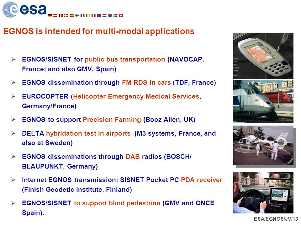 EGNOS is intended for multi-modal applications