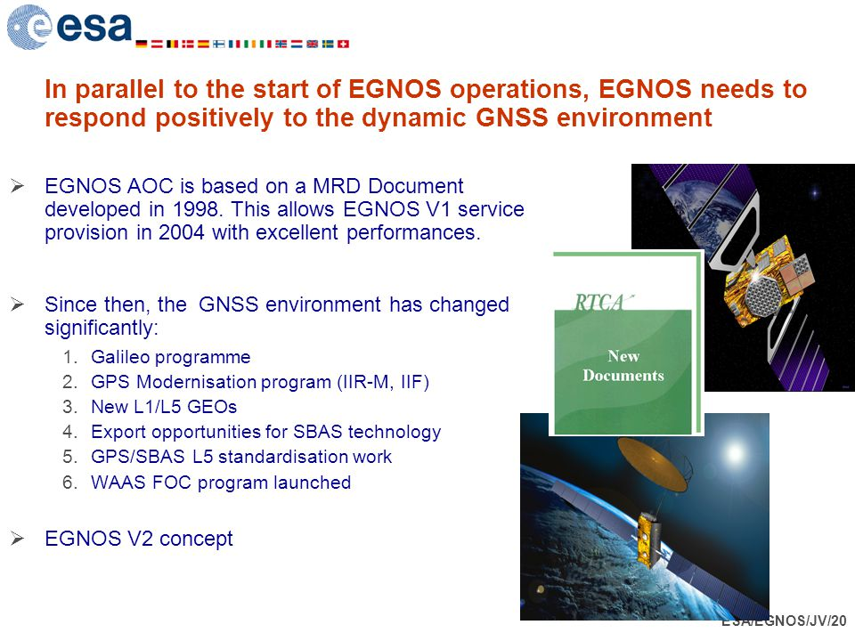 In parallel to the start of EGNOS operations, EGNOS needs to respond positively to the dynamic GNSS environment