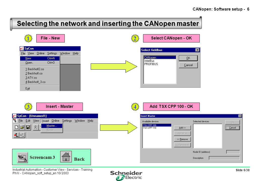CANopen: Software setup - 6