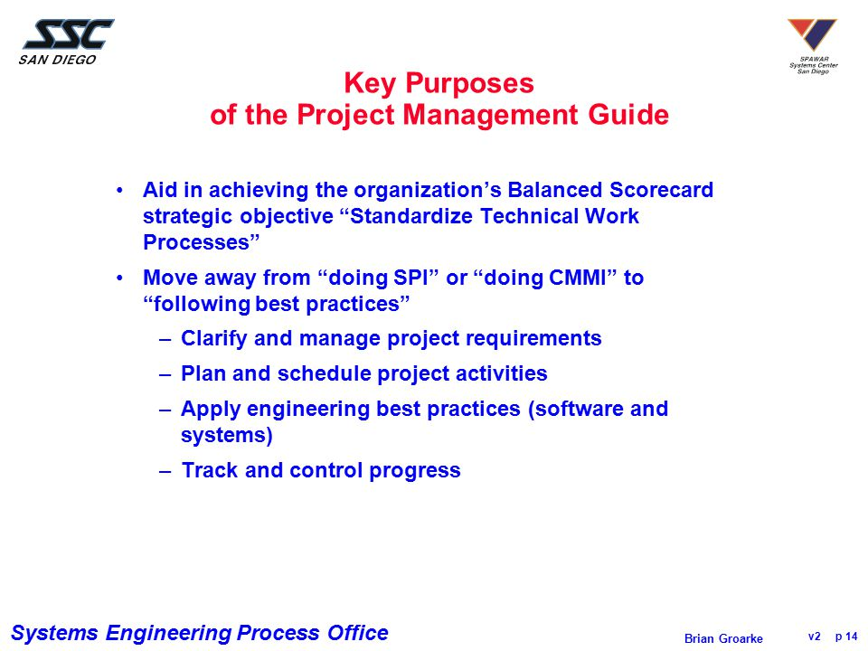 Key Purposes of the Project Management Guide