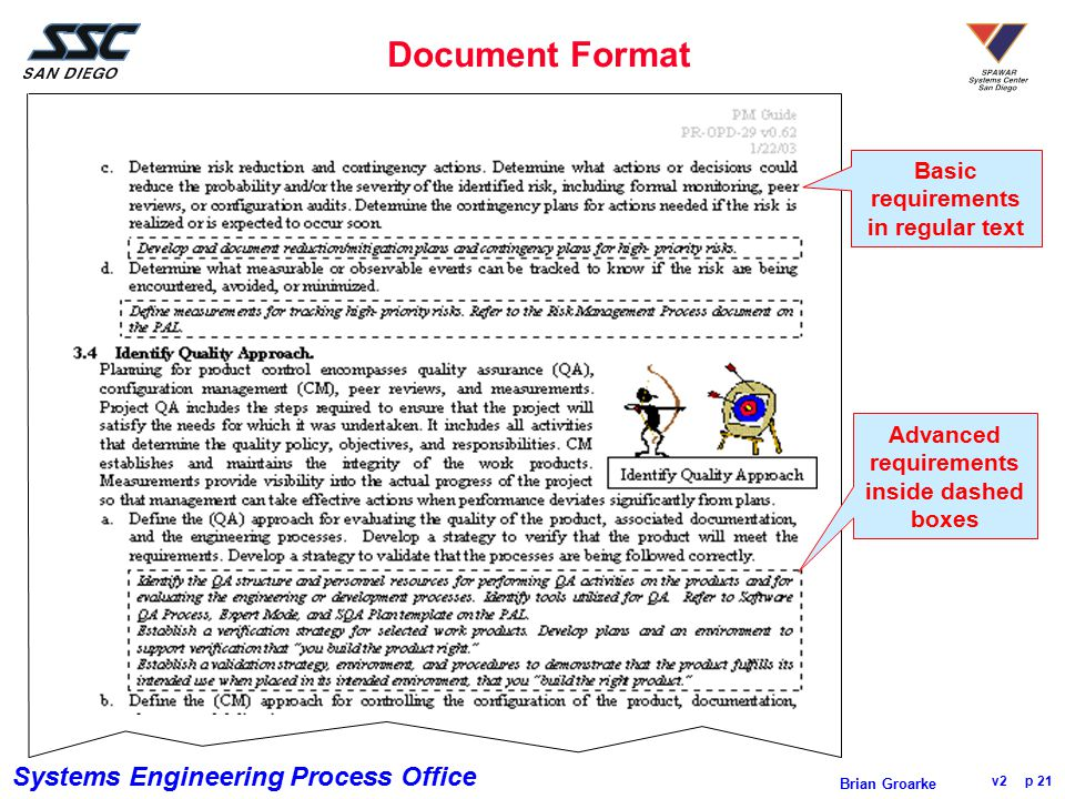 Document Format Basic requirements in regular text