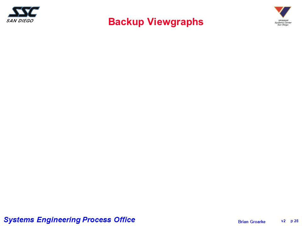 Backup Viewgraphs