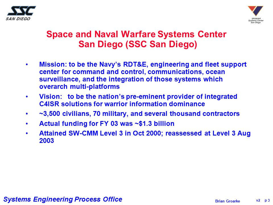 Space and Naval Warfare Systems Center San Diego (SSC San Diego)