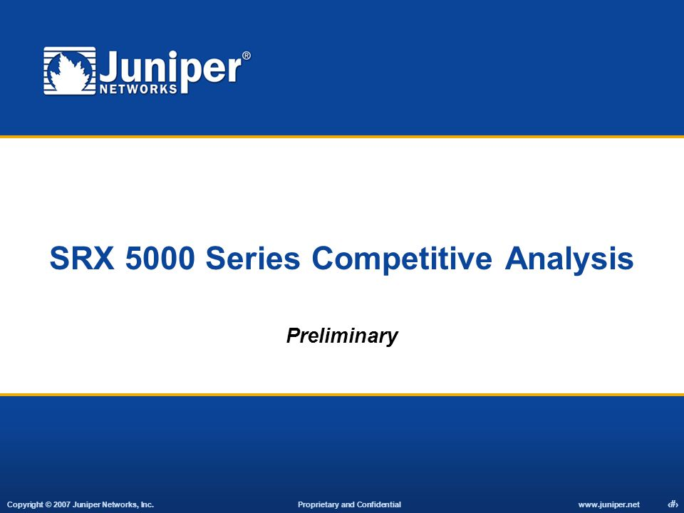 SRX 5000 Series Competitive Analysis