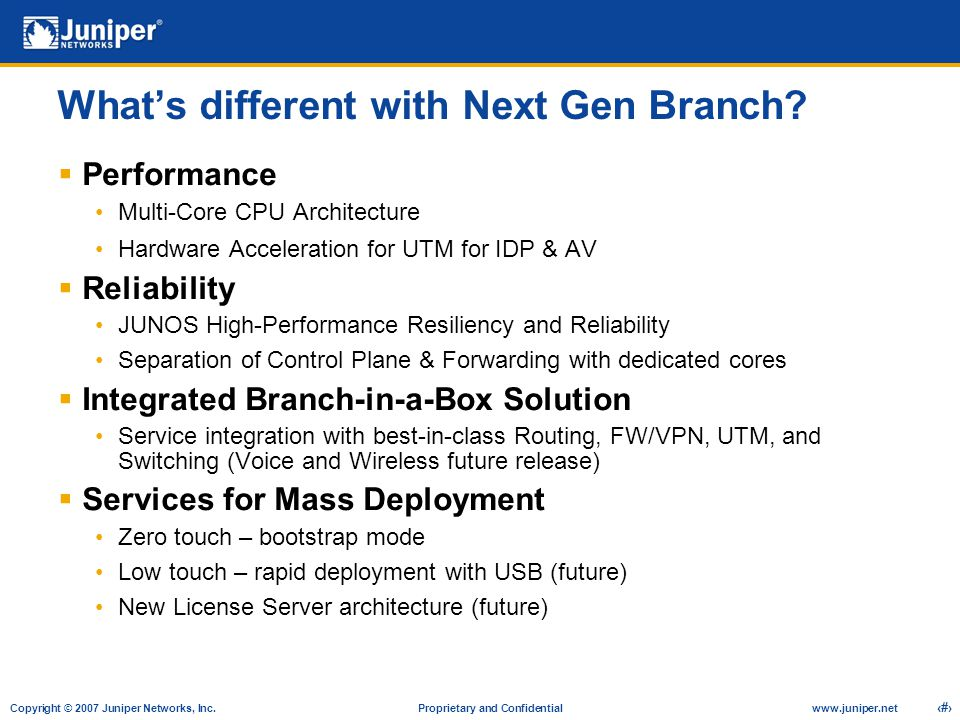 What's different with Next Gen Branch