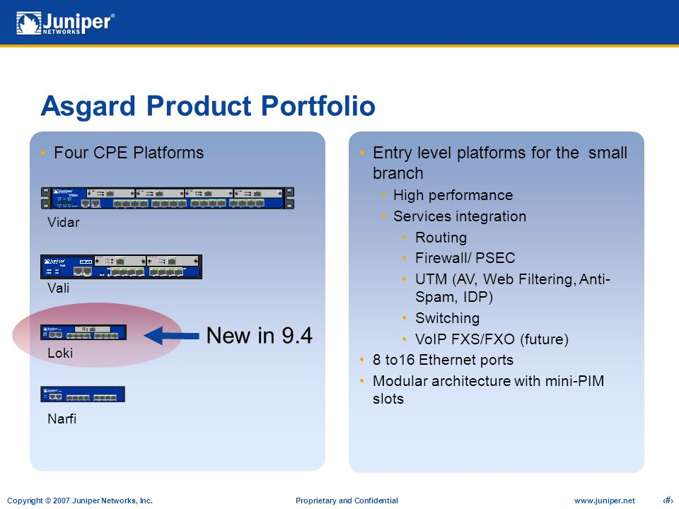 Asgard Product Portfolio