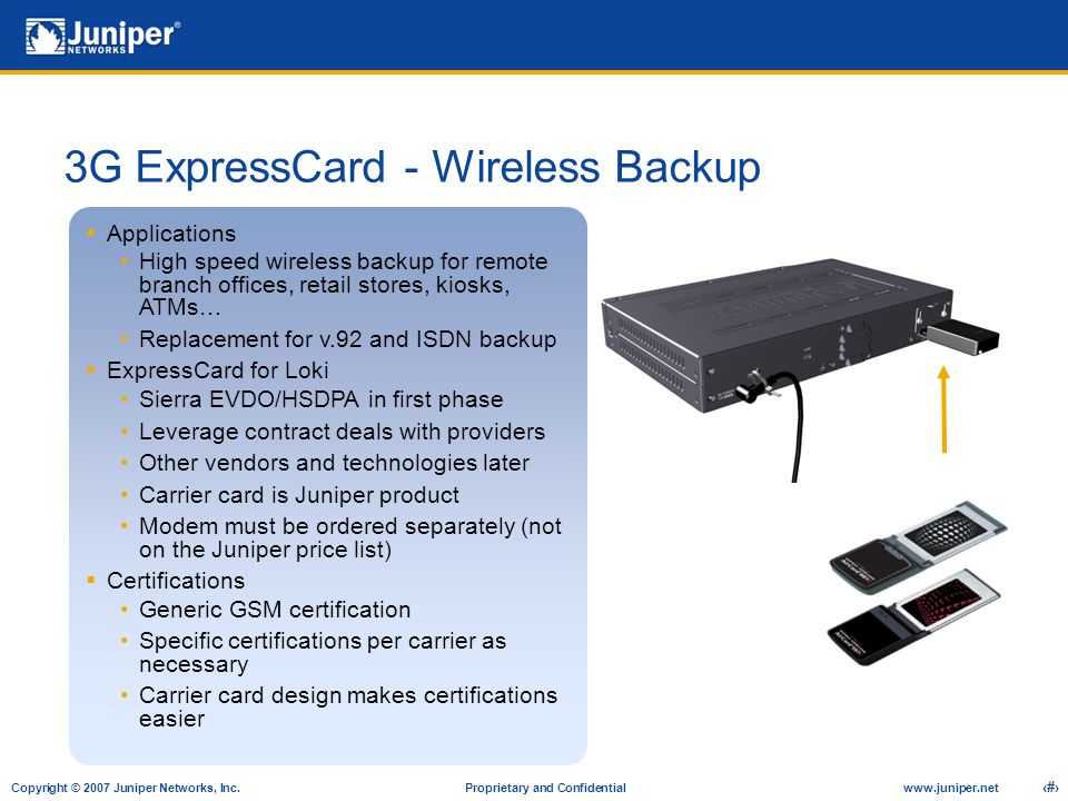 3G ExpressCard - Wireless Backup