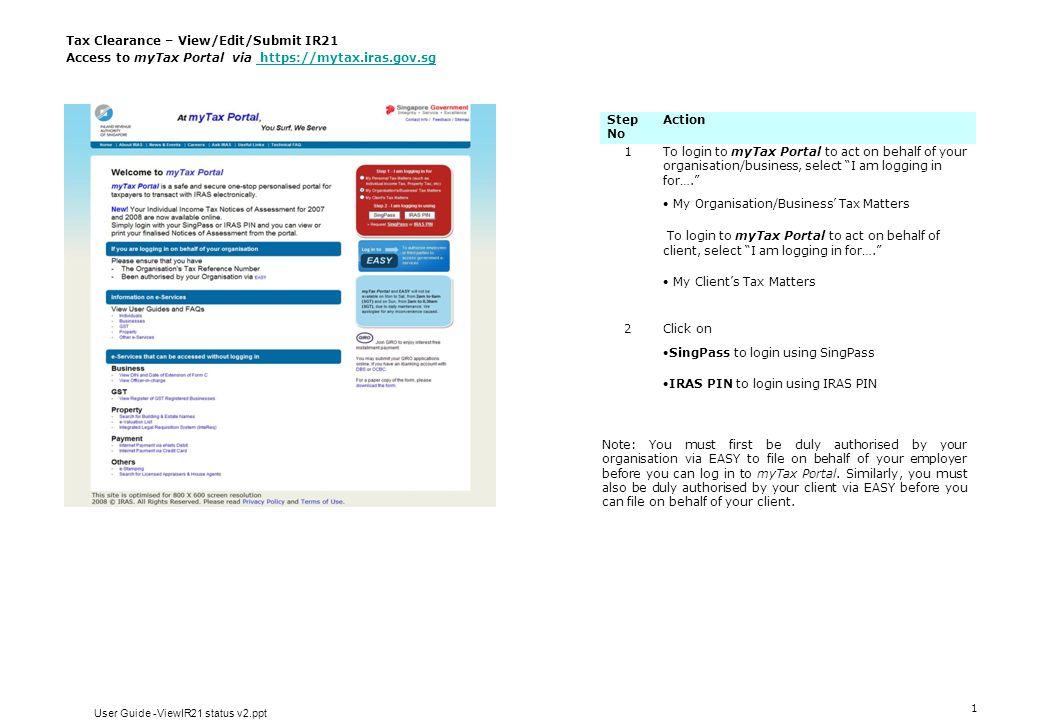 User Guide -ViewIR21 status v2.ppt