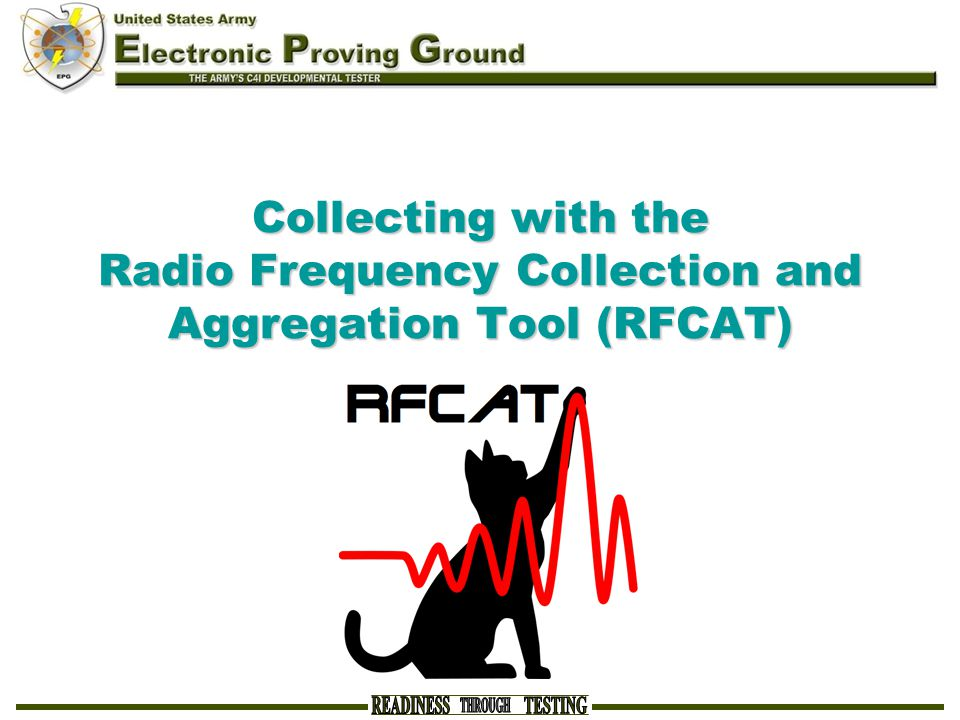 Collecting with the Radio Frequency Collection and Aggregation Tool (RFCAT)