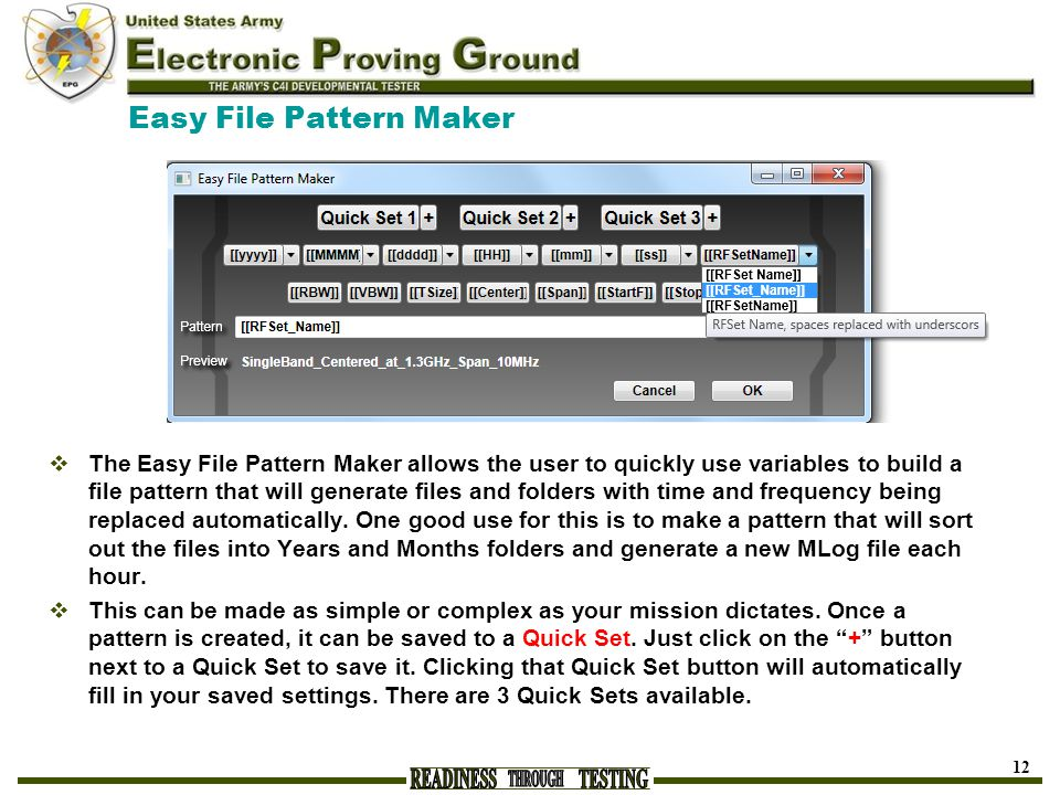 Easy File Pattern Maker