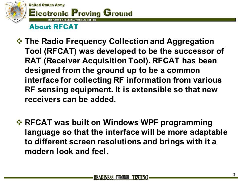 About RFCAT