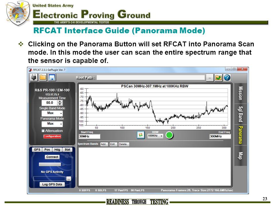 RFCAT Interface Guide (Panorama Mode)