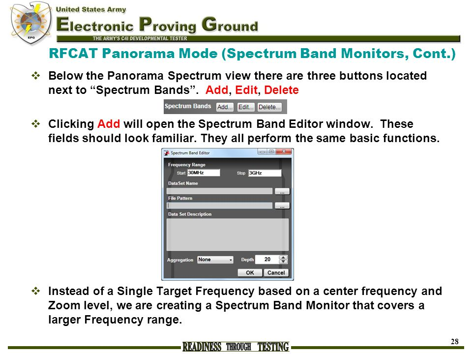RFCAT Panorama Mode (Spectrum Band Monitors, Cont.)