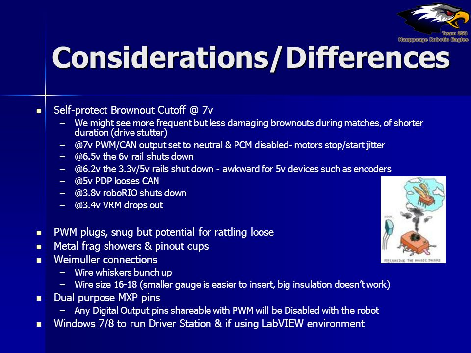 Considerations/Differences