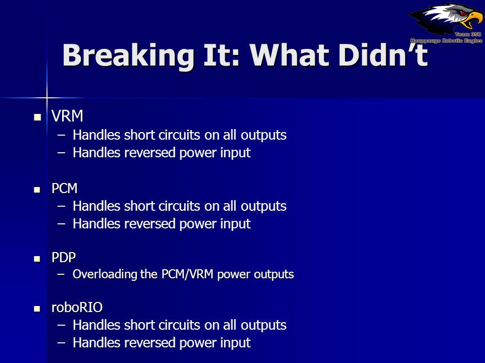 Breaking It: What Didn't