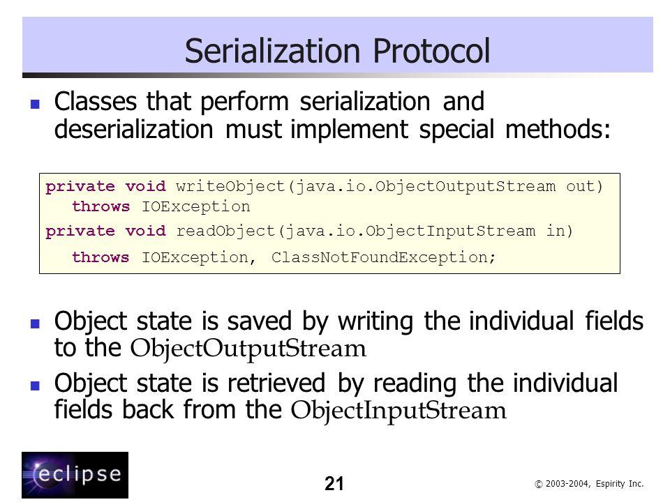 Serialization Protocol