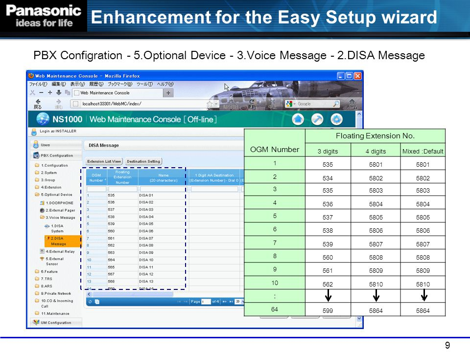 Enhancement for the Easy Setup wizard