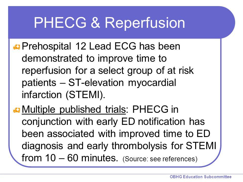 PHECG & Reperfusion