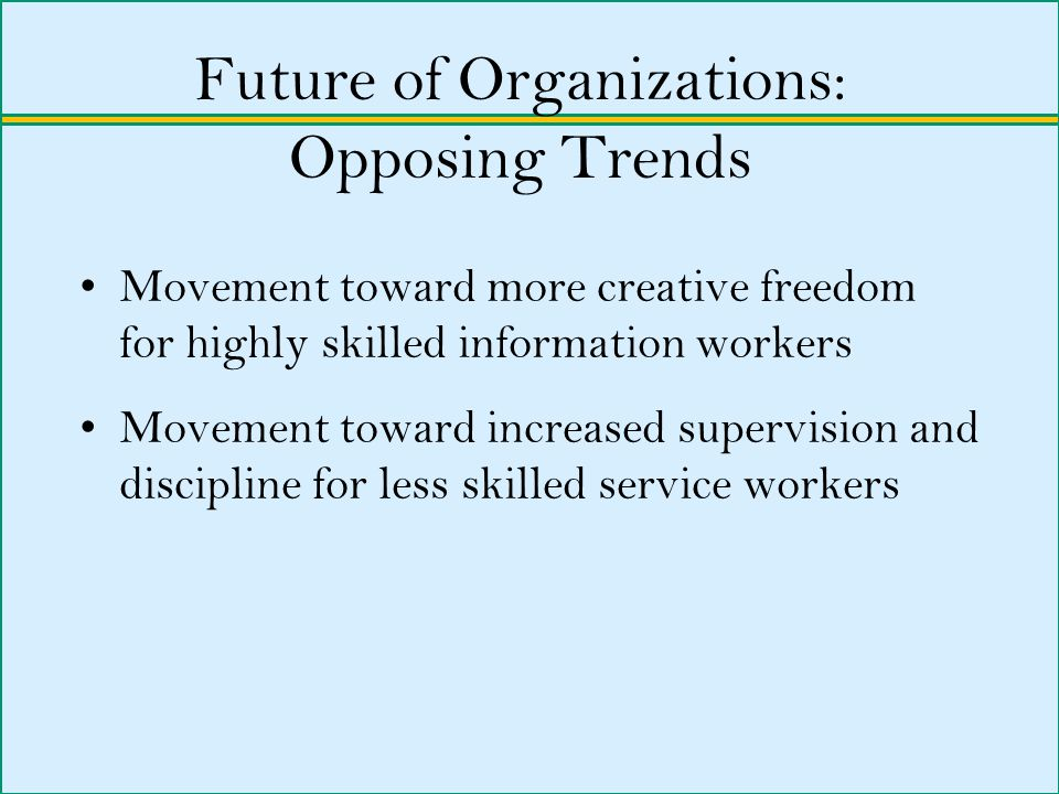 Future of Organizations: Opposing Trends