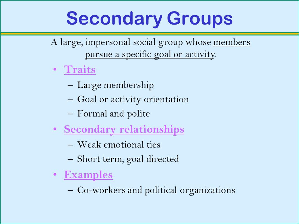 Secondary Groups, Basic Concepts of Sociology Guide