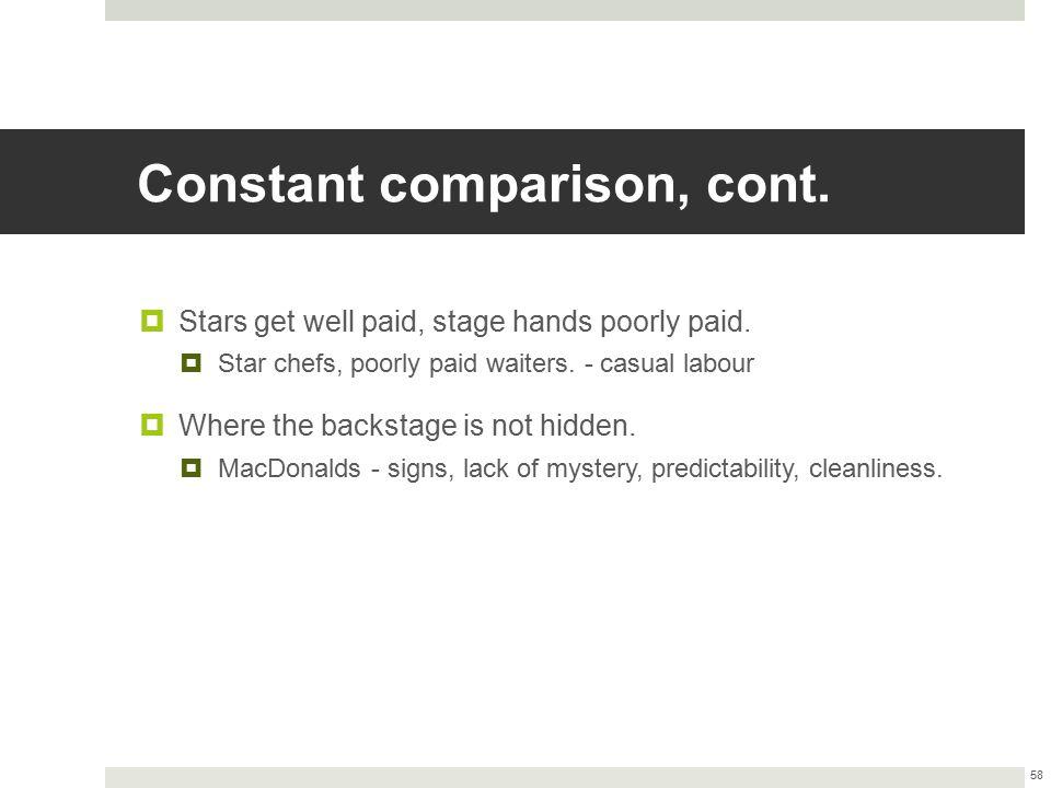 Constant comparison, cont.
