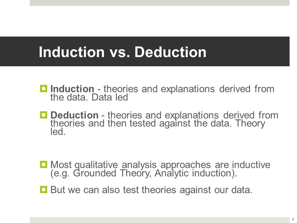 Induction vs. Deduction