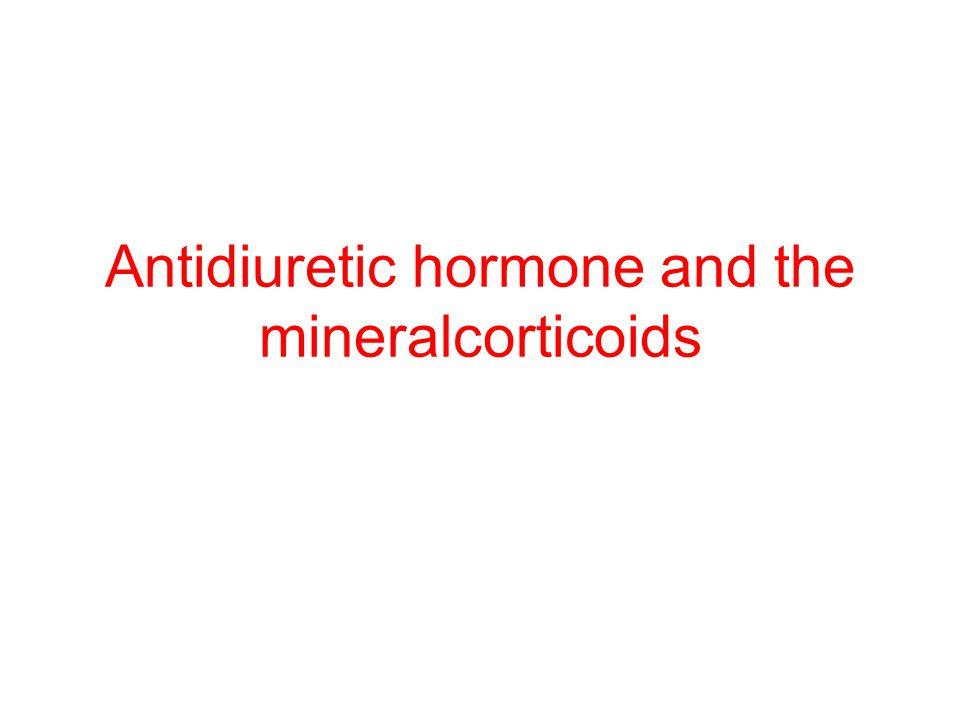 Antidiuretic hormone and the mineralcorticoids