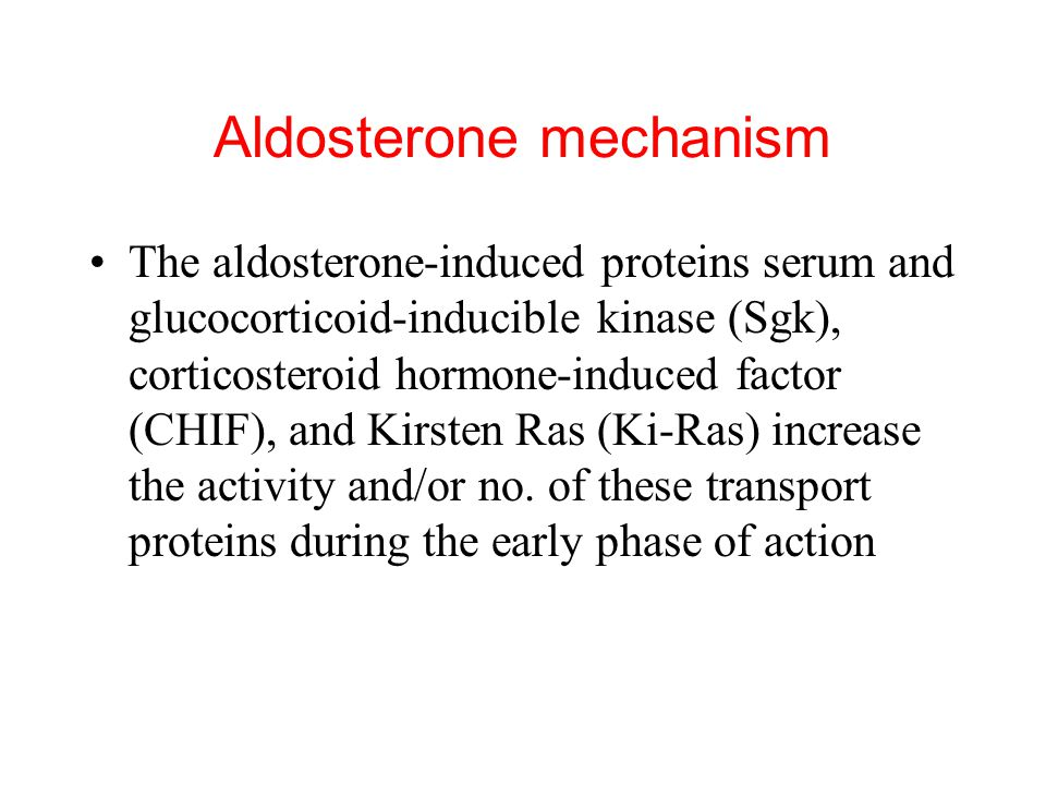 Aldosterone mechanism