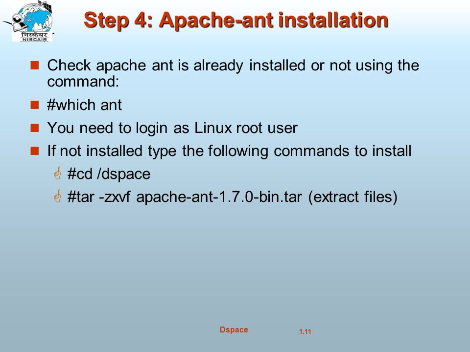 Step 4: Apache-ant installation