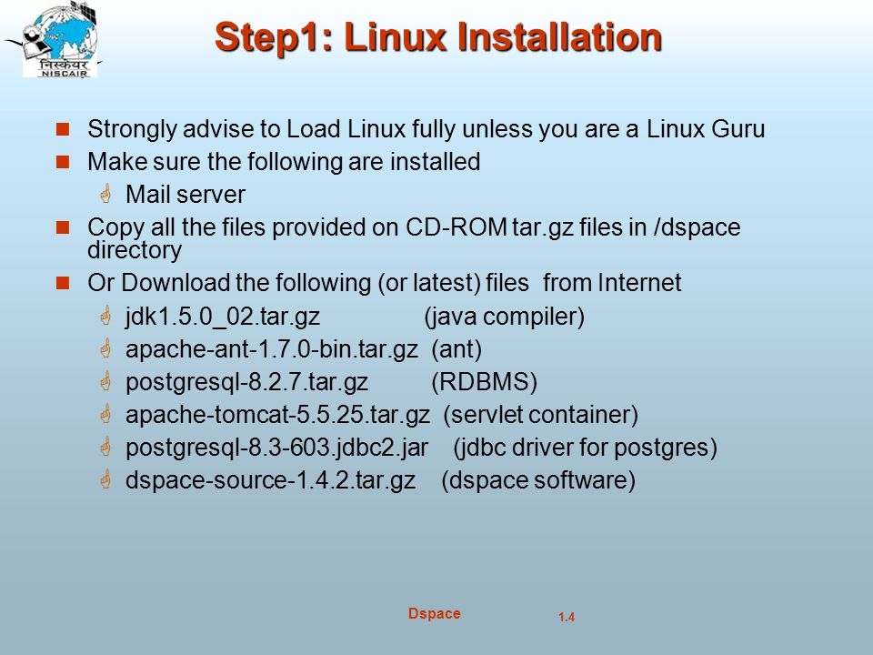 Step1: Linux Installation