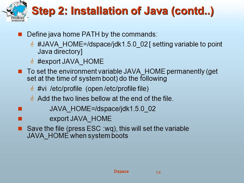 Step 2: Installation of Java (contd..)