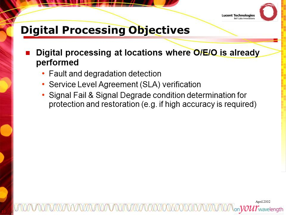 Digital Processing Objectives