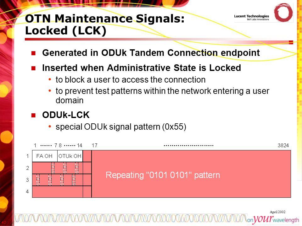 OTN Maintenance Signals: Locked (LCK)
