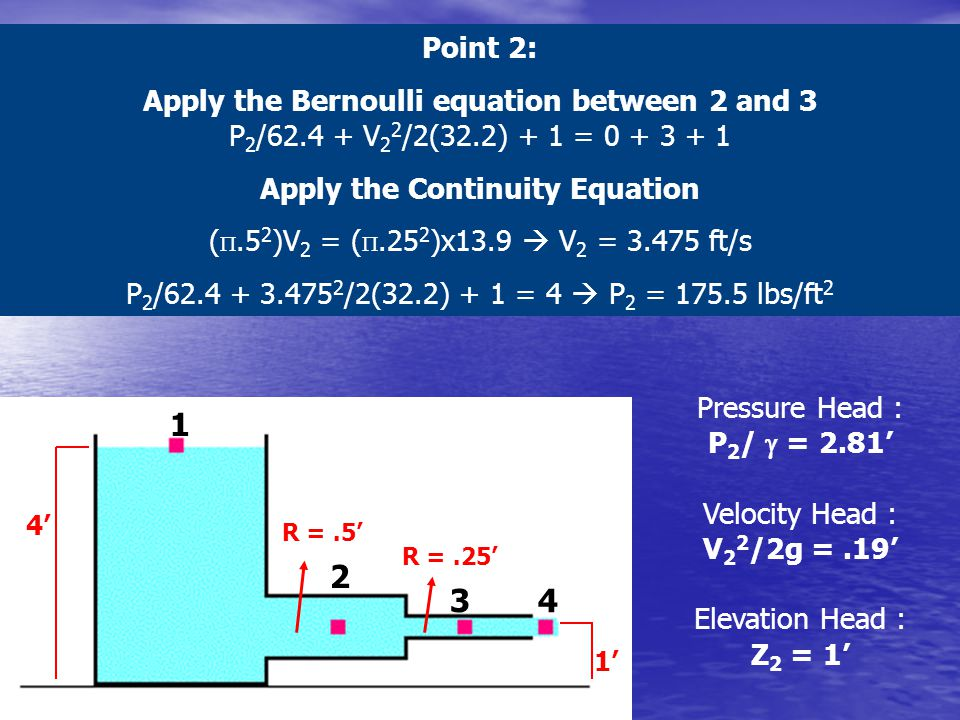 Apply the Continuity Equation