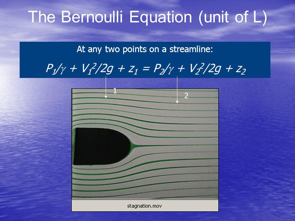 The Bernoulli Equation (unit of L)
