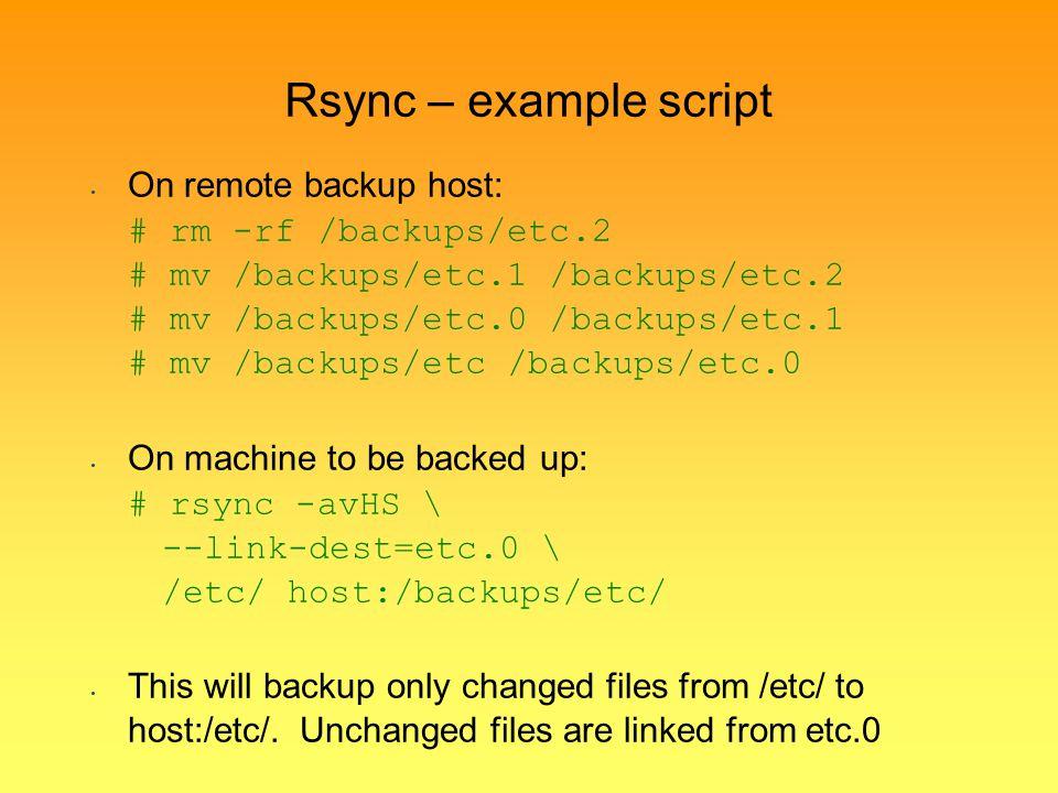 Rsync – example script