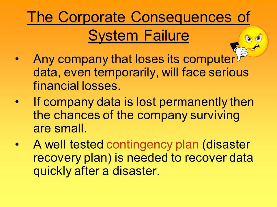 The Corporate Consequences of System Failure