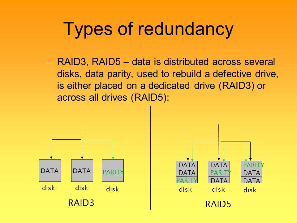 Types of redundancy